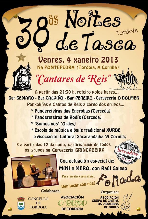 Noite de Tasca 2013-Tordoia-Cantos de Reis