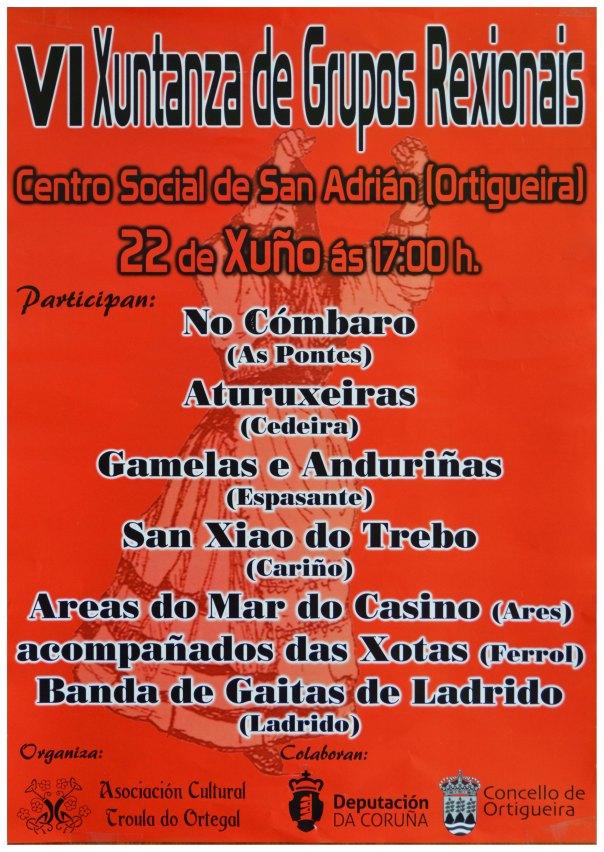 Cartaz VI Xuntanza de Grupos rexionais