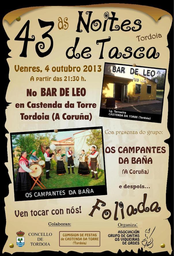 43 NOITE DE TASCA EN TORDOIA