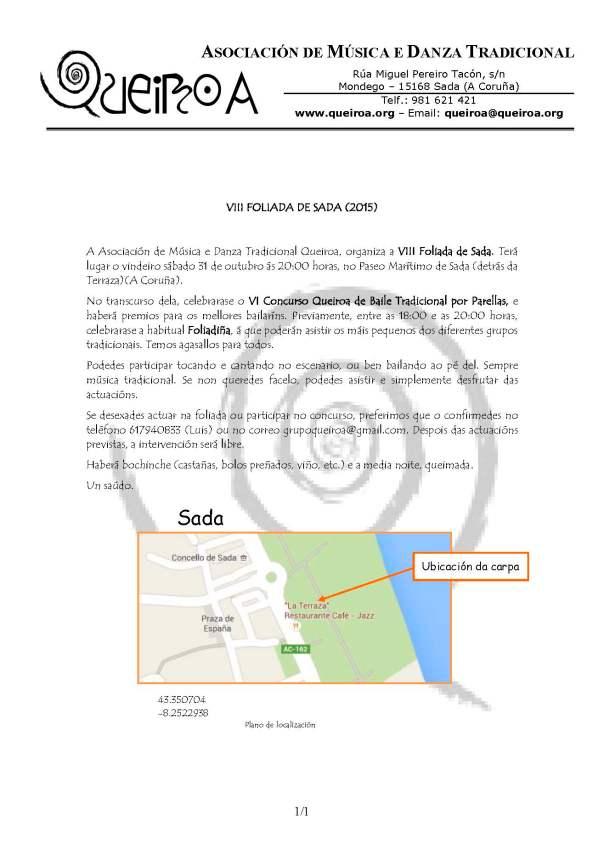 2015 VIII Foliada de Sada (Informaci+¦n)